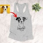 Personalized Dog Portrait Men & Women Tank Top for Dog Lovers, Gift for Dog Lover