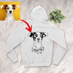 Personalized Dog Portrait Men & Women Zip Hoodie for Dog Lovers, Gift for Dog Lover