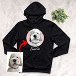 Personalized Pet Portrait Sketch Hand Drawing Men & Women Hoodie for Dog Lovers, Gift for Dog Lover