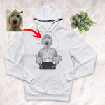 Pet Portrait In Human Costume Customized Unisex Hoodie Special Gift For Pet Lovers, Dog Moms, Dog Dads, Gift For Pet Owners