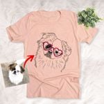 Personalized Dog Portrait Hand Drawing Men & Women T-shirt for Dog Lovers, Dog Parents, Gift for Dog Lover