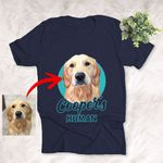 Personalized Dog Colorful Painting Unisex T-shirt With Solid Background Gift For Pet Lovers, Daughter, Son