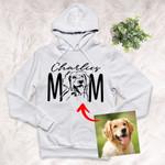 Furry Mom Custom Pet Portrait Adult Hoodie Pet Memorial Gift For Dog Lovers