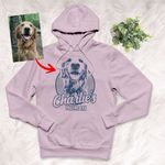 Personalized Sketch Hand Drawing Adult Hoodie Pencil Drawing Gift For Dog Lovers, Pet Owners, Dog Mama, Dog Dads, Pet Rescue Team