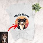 Personalized Pet Colourful Painting - Marvelous Beloved Pet Unisex V-neck Tee For Pet Owners