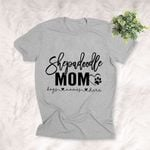 Shepadoodle Dog Mom Customized T-shirt Gift For Dog Mama, Girlfriend, Dog Owners, Gift For Her On Birthday