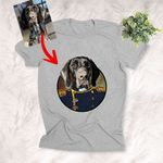 Pet Portrait In Royal Costume Personalized Unisex T-shirt Funny Gift For Dog Owners, Dog Moms, Dog Dads, Pet Lovers On Birthday