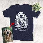 Pencil Sketch Hand Drawing Personalized Unisex T-shirt Vintage Gift For Mom, Dad, Birthday Gift For Pet Lovers