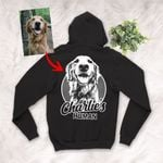Pencil Sketch Hand Drawing Personalized Adult Zip Hoodie Vintage Gift For Mom, Dad, Birthday Gift For Pet Lovers