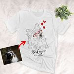 Personalized My Dog Is My Valentine Pet Illustration T-shirt For Pet Lovers