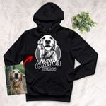 Pencil Sketch Hand Drawing Personalized Adult Hoodie Vintage Gift For Mom, Dad, Birthday Gift For Dog Lovers, Pet Owners