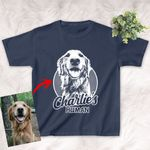 Personalized Pencil Sketch Hand Drawing T-shirt For Kids Funny Gift For Daughters, Sons, Boys Or Girls On Their Birthday
