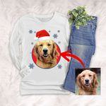 Personalized Dog Colorful Oil Painting Men & Women Long sleeve shirt Christmas for Dog Lovers