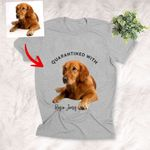 Pawperty Of Pet Customized Photo Unisex T-shirt Gift For Dog Dads, Pet Moms, Anniversary Gift For Girlfriend, Boyfriend