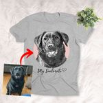 My Soulmate Dog Personalized Pet Pencil Sketch Unisex T-shirt