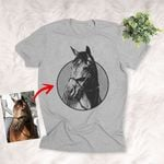 Customized Equestrian Horse Shirts With Horses On Them For Girl Women