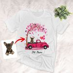 Pet Lovers Oil Painting Digital Customized Unisex T-shirt Gift For Her, Him, Boyfriend, Girlfriend, Wife, Husband On Vanlentine's Day