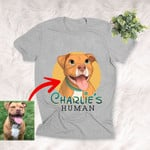 Personalized Dog Cartoon Transferring Women T-shirt Adults for Dog lovers