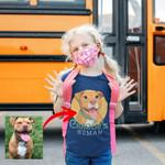 Personalized Dog Cartoon Transferring Women T-shirt Kids for Dog lovers