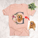 Customized Pet Initial Illustration Unisex Adults T-shirt For Pet Owners