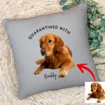 Pawperty Of Pet Customized Photo Pillow Case Gift For Dog Dads, Pet Moms, Anniversary Gift For Girlfriend, Boyfriend