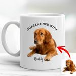 Pawperty Of Pet Customized Photo Mug Gift For Dog Dads, Pet Moms, Anniversary Gift For Girlfriend, Boyfriend