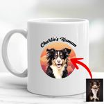 Personalized Pet Colourful Painting - Marvelous Beloved Pet Mug For Pet Owners