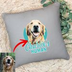 Customized Pet Colourful Painting - Human Marvelous Pillow Case For Pet Owners, Dog Lovers