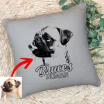 Pet Portrait Personalized Dog Pillow Case For Men And Women Dog Owners, Dog Face Gift For Dog Moms, Dog Dads, Pet Lovers On Anniversary
