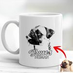 Pet Portrait Personalized Dog Mug For Men And Women Dog Owners, Dog Face Gift For Dog Moms, Dog Dads, Pet Lovers On Anniversary