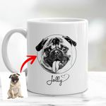 Personalized Pet Fur-Baby Pencil Sketch Mug For Pet Owners