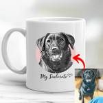 Personalized Pet Pencil Sketch Mug - My Soulmate Dog Mug For Pet Lovers