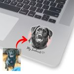 Personalized Pet Pencil Sketch Sticker - My Soulmate Dog Stickers For Pet Lovers