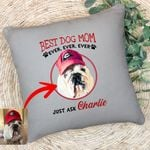 Personalized Dog Portrait Colorful Painting Women Pillow Case Best Dog Mom Ever for Dog lovers, Dog Owners, Dog Mom