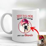 Personalized Dog Portrait Colorful Painting Women Mug 11oz Best Dog Mom Ever for Dog lovers, Dog Owners, Dog Mom
