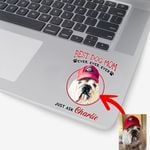 Personalized Dog Portrait Colorful Painting Women Sticker Best Dog Mom Ever for Dog lovers, Dog Owners, Dog Mom