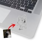 Personalized Dog Portrait Hand Drawing Men & Women Stickers for Dog Lovers, Dog Parents, Gift for Dog Lover