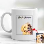 Customized Pet Portrait Illustration Happy Petties Mug For Pet Lovers