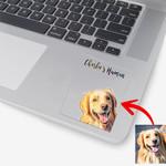 Customized Pet Portrait Illustration Happy Petties Stickers For Pet Lovers