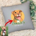 Personalized Dog Cartoon Transferring Women Pillow Case Adults for Dog lovers