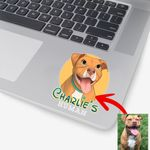 Personalized Dog Cartoon Transferring Women Stickers Adults for Dog lovers