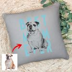 Personalized Dog Sketch Hand Drawing Men & Women Pillow Case Best Dog Mom Ever for Dog lovers, Dog Owners, Dog Mom, Dog Dad