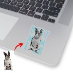 Personalized Dog Sketch Hand Drawing Men & Women Stickers Best Dog Mom Ever for Dog lovers, Dog Owners, Dog Mom, Dog Dad