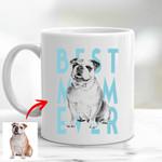 Personalized Dog Sketch Hand Drawing Men & Women Mug 11oz Best Dog Mom Ever for Dog lovers, Dog Owners, Dog Mom, Dog Dad