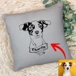 Personalized Dog Portrait Men & Women Pillow Case for Dog Lovers, Gift for Dog Lover