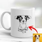 Personalized Dog Portrait Men & Women Mug 11oz for Dog Lovers, Gift for Dog Lover