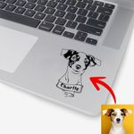 Personalized Dog Portrait Men & Women Stickers for Dog Lovers, Gift for Dog Lover