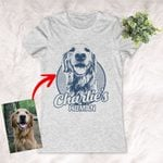 Personalized Dog Women's T-shirt For Humans Custom Dog Women's T-shirt For Dog Lovers