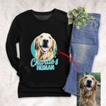 Customized Pet Colourful Painting - Human Marvelous Unisex Long Sleeves For Pet Owners