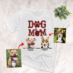 Dog Mom Personalized Unisex T-shirt Gift For Dog Moms, Dog Mama, Girlfriends, Pet Lovers On Anniversary